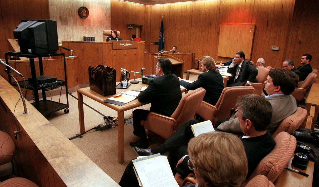 Description of . Judge Phyllis McMillen of the 51st District Court in Waterford watches the