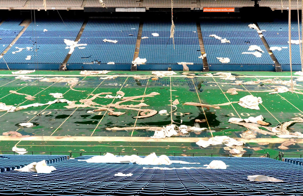 Description of . The shuttered Pontiac Silverdome, who will have an upcoming auction of its contents. Wednesday, April 30, 2014.  Tim Thompson-The Oakland Press
