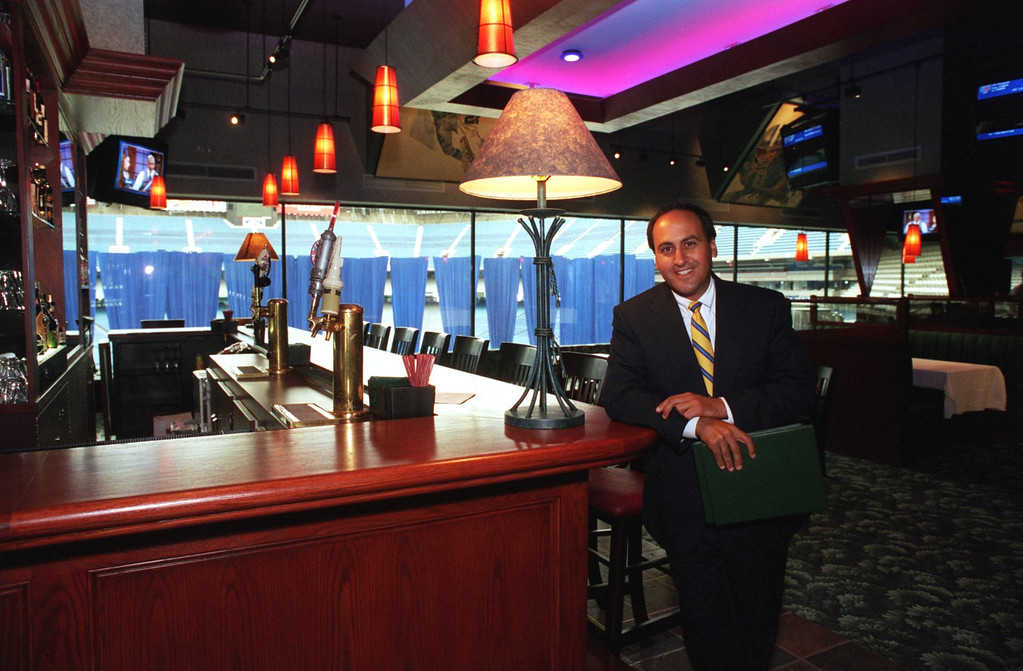 Description of . Anthony Michaels, Executive Vice President, Marketing and Public Relations for Elias Brothers, at the newly remodeled Main Event in the Pontiac Silverdome.