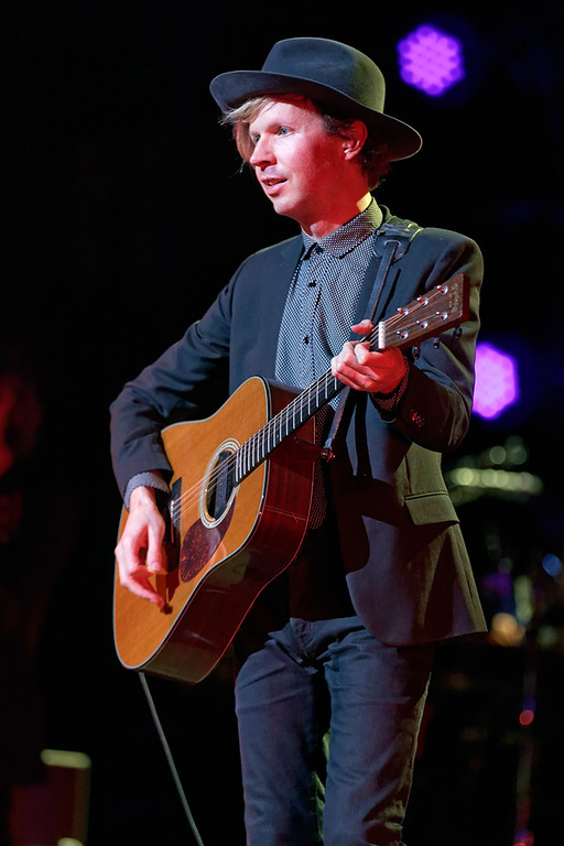 Description of . Beck performs at the Fox Theatre in Detroit on June 29, 2014. Photo by Ken Settle