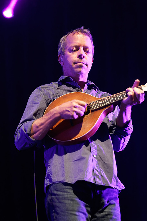Description of . David Immergluck of Counting Crows plays mandolin at Sound Board in the MotorCity Casino on Friday, July 18, 2014. Photo by Ken Settle