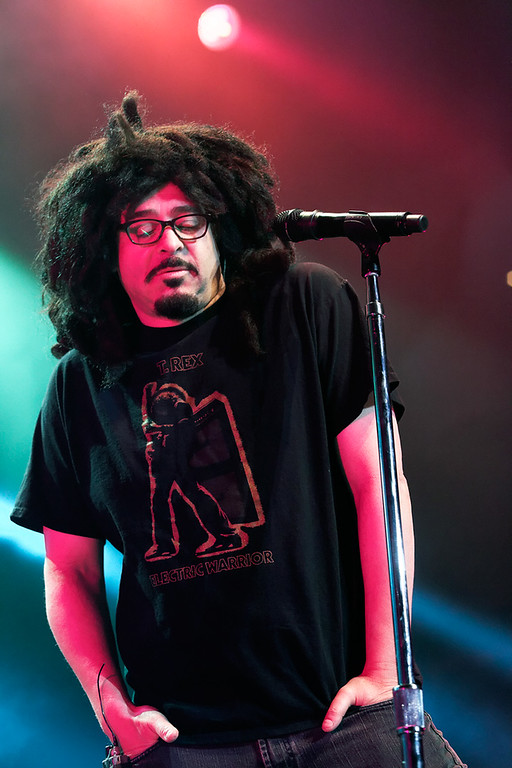 Description of . Adam Duritz of Counting Crows sings at Sound Board in the MotorCity Casino on Friday, July 18, 2014. Photo by Ken Settle