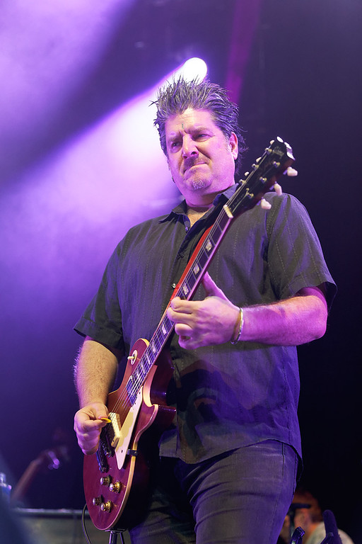 Description of . Guitarist David Bryson of Counting Crows perform at Sound Board in the MotorCity Casino on Friday, July 18, 2014. Photo by Ken Settle