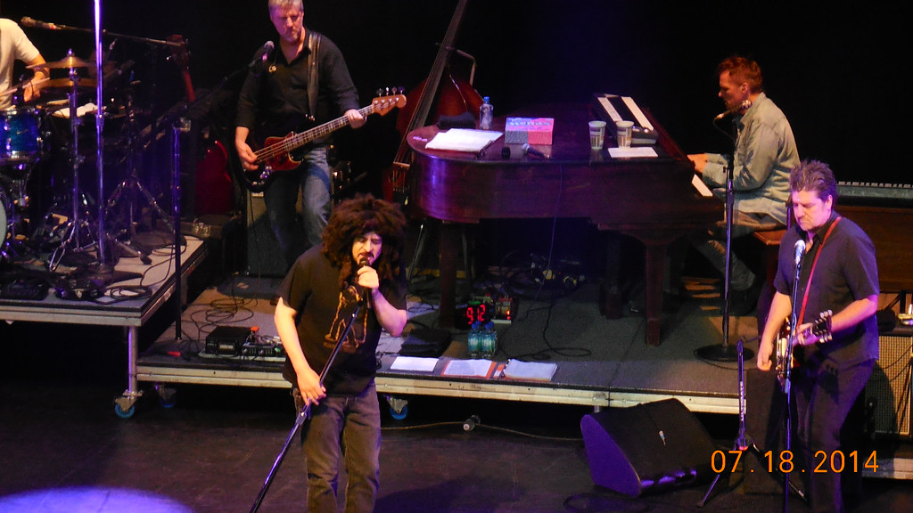 Description of . Adam Duritz of Counting Crows sings at Sound Board in the MotorCity Casino on Friday, July 18, 2014. Photo by Blake Gitlin