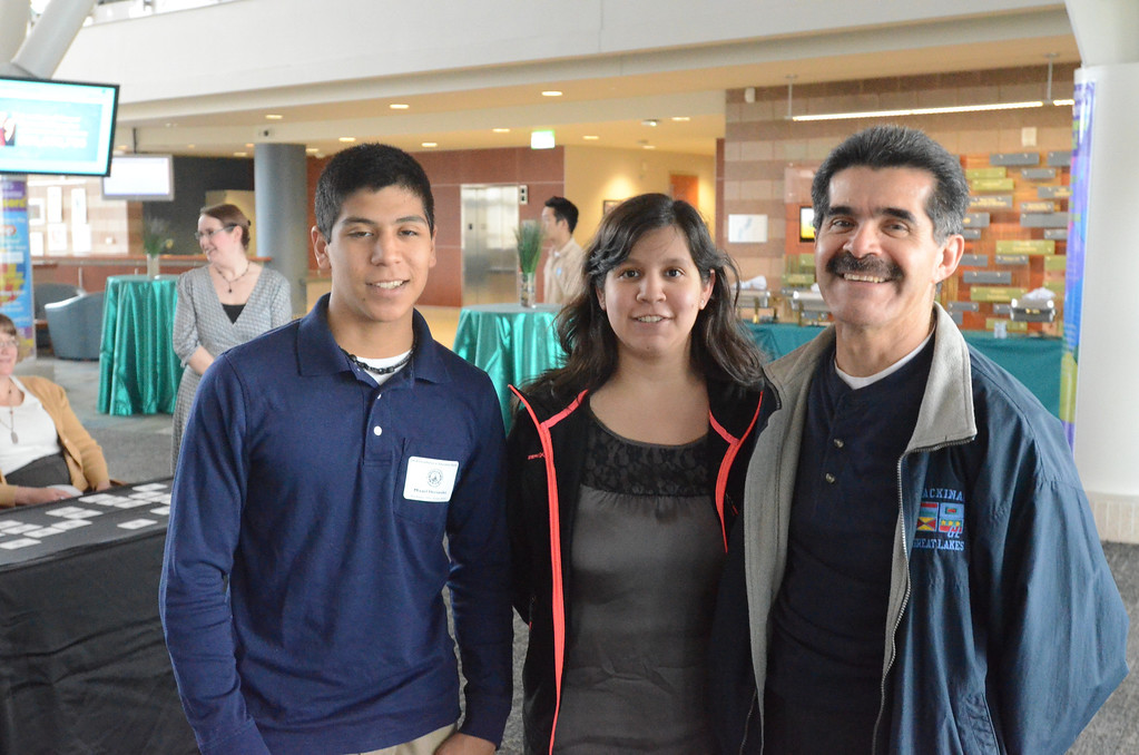 Description of . Misael Hernandez of Rochester Hills Christian School with family