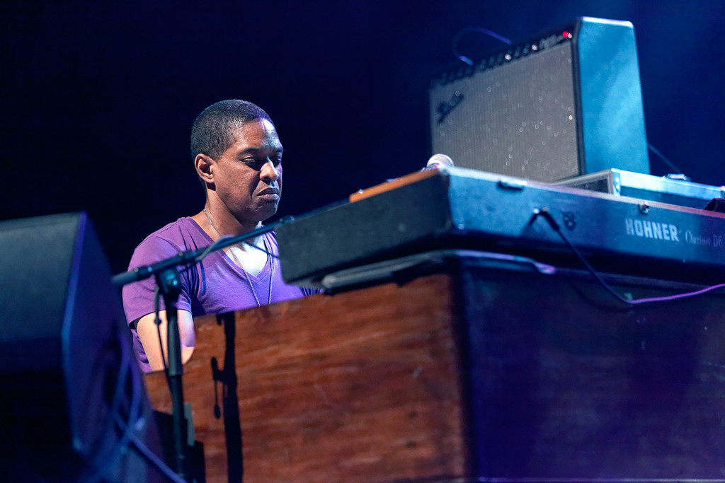 Description of . Kofi Burbridge of Tedeschi Trucks Band performs at Freedom Hill Amphitheatre on Tuesday, June 17. 