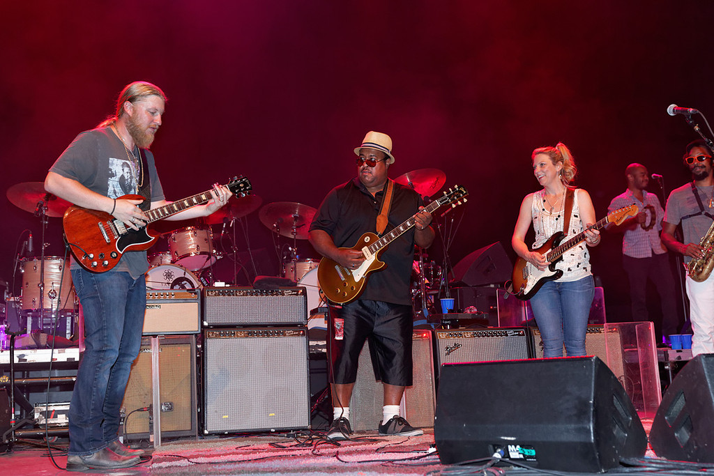 Description of . Special guest Larry McCray performs with Tedeschi Trucks Band at Freedom Hill Amphitheatre on Tuesday, June 17. 