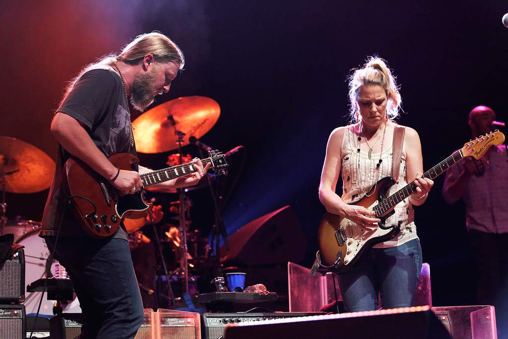 Description of . Derek Trucks and Susan Tedeschi perform at Freedom Hill Amphitheatre on Tuesday, June 17. 