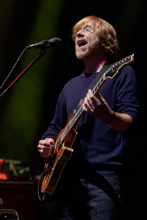 Description of . Trey Anastasio of Phish at DTE on 7-16-14. Photo by Ken Settle