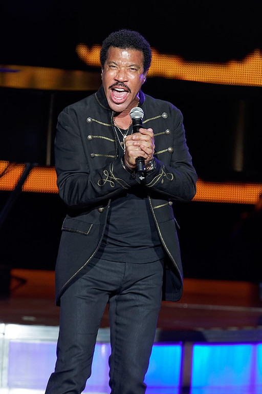 Description of . Lionel Richie performs at DTE Energy Music Theatre in Independence Township on June 20, 2014. Photo by Ken Settle