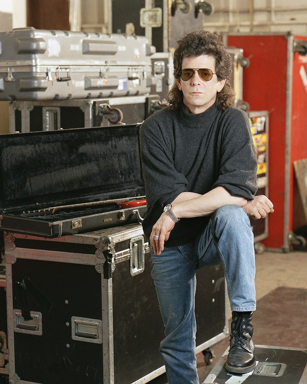 Description of . FILE - In a  March 27 1989 file photo, musician Lou Reed poses at the American Sound Studio in New York. Reed's literary agent Andrew Wylie says the legendary musician died Sunday morning, Oct. 27, 2013 in Southampton, N.Y., of an ailment related to his recent liver transplant. He was 71.  (AP Photo/Wyatt Counts, File)