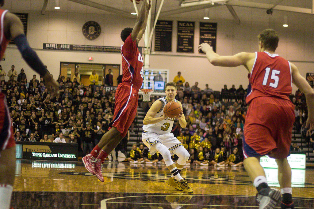 Description of . Bader jukes his defender. Photos by Dylan Dulberg/The Oakland Press