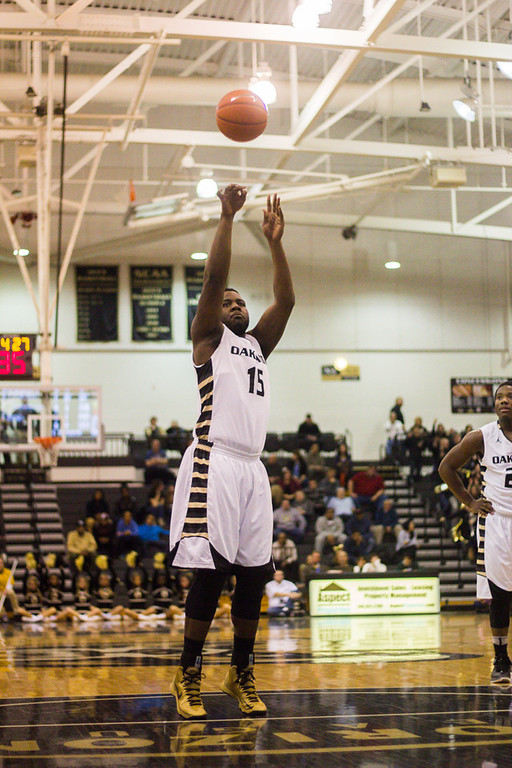 Description of . #15 Lloyd Neely takes a free throw. Photo by Dylan Dulberg