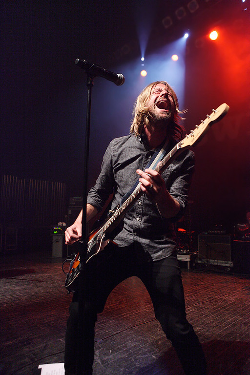 Description of . Jon Foreman of Switchfoot at Fillmore Detroit Thursday night, Dec. 12, 2013. Photo by Ken Settle