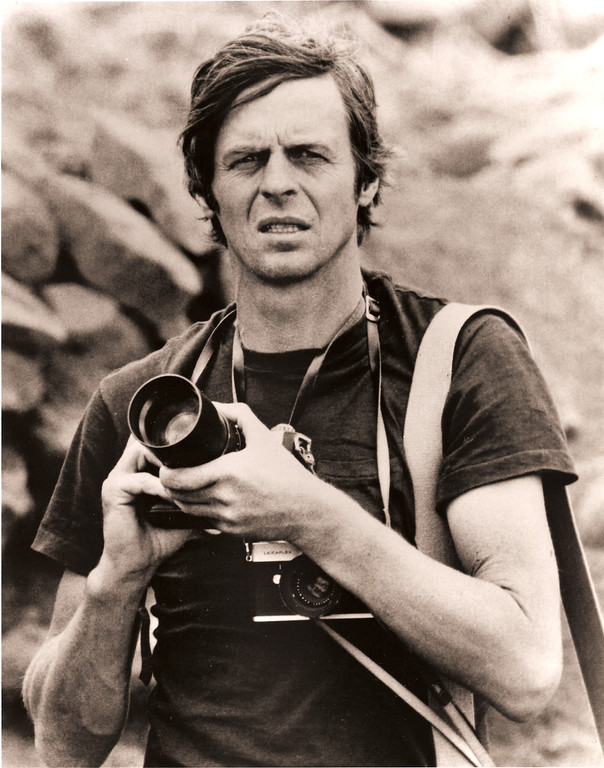 Description of . George Plimpton photographing birds in Africa (Photo: Freddy Plimpton/Laemmle Zeller Films)