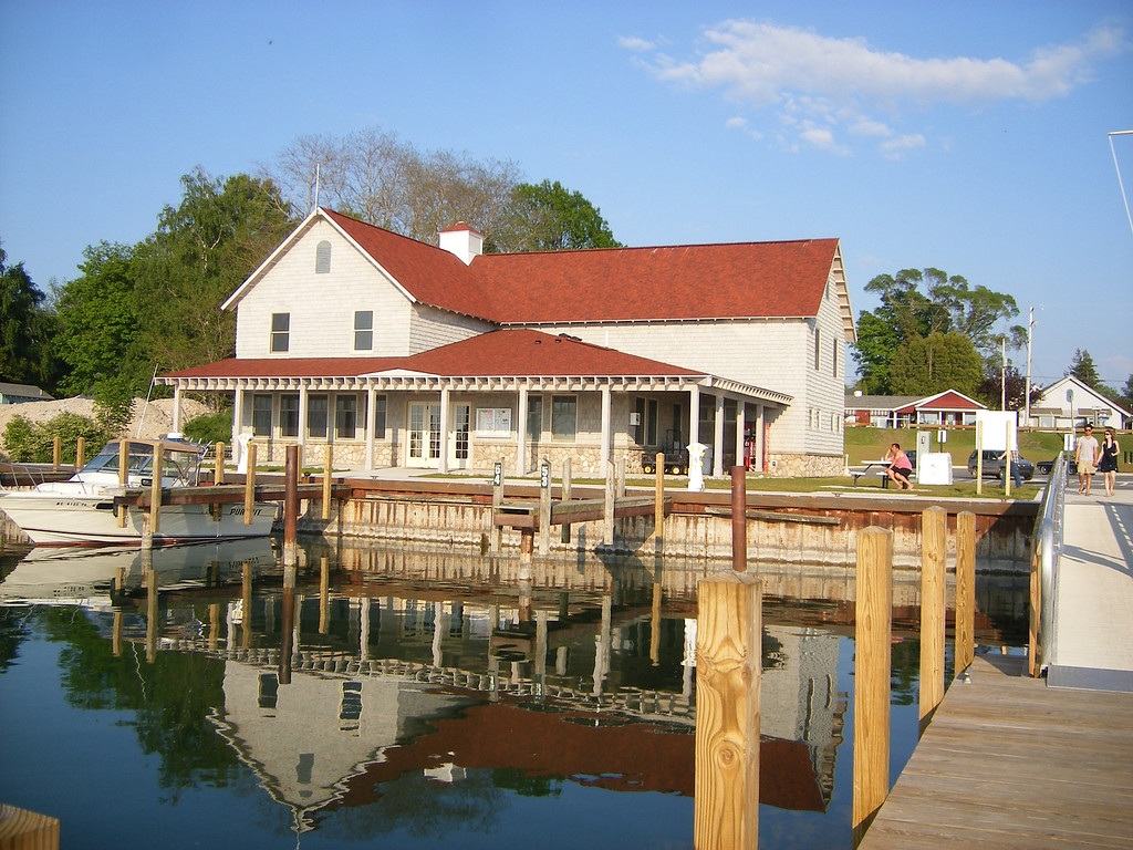 Description of . Leland Harbor, a full-service marina, is one of a favorite destination for boaters in Michigan. It's also a great fishing spot.  Photo by Kristine Morris