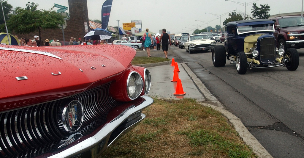 Description of . Some of the classic cars at the 16th Annual Woodward Dream Cruise in Royal Oak. (Oakland Press Photo/Vaughn Gurganian)