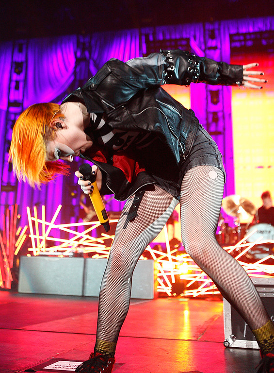Description of . Paramore's Hayley Williams performs at The Palace Thursday night, Nov. 21, 2013. Photo by Ken Settle