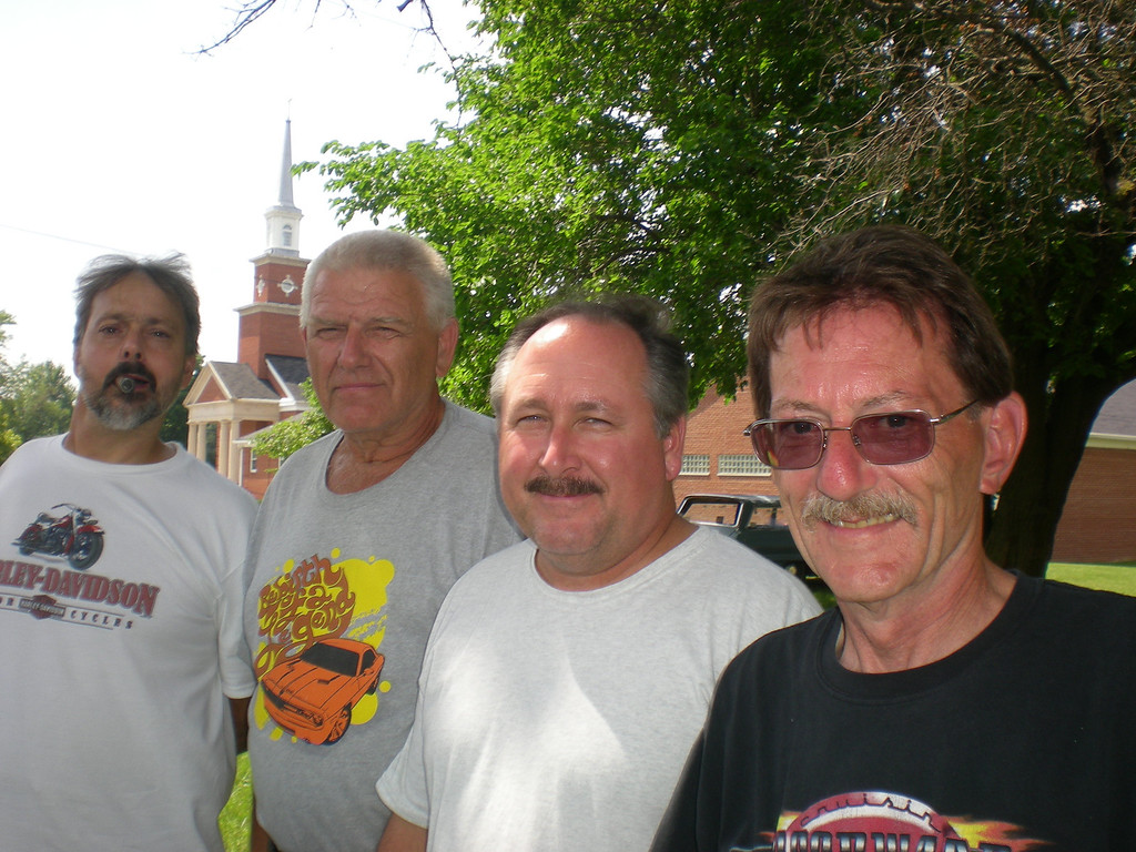 . Four friends from New Jersey - (left to right) Larry McAuliffe, Al Bernotas, Tom Merring and Jim Krous - hurried and fixed up a 1960 Chevy Impala that had been inside a garage for 35 years and drove it to the Woodward Dream Cruise.