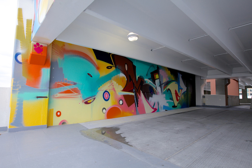 Description of . One of the murals inside
