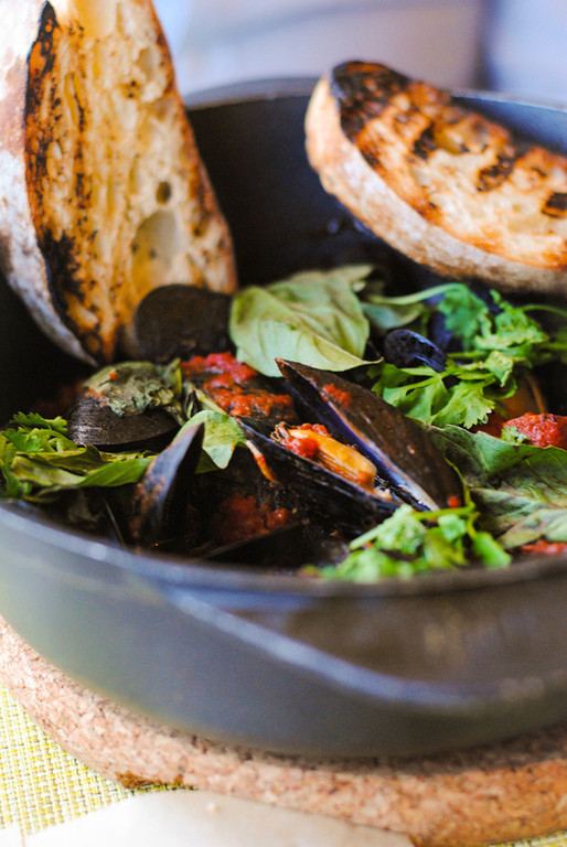 Description of . Blue Moon Mussels at Bistro Joe's. Photo by Lori Yates