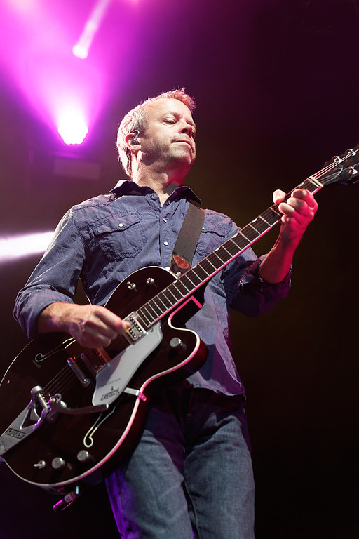 Description of . David Immergluck of Counting Crows plays guitar at Sound Board in the MotorCity Casino on Friday, July 18, 2014. Photo by Ken Settle