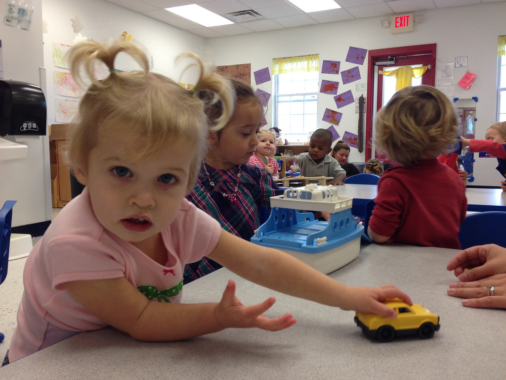 Description of . Preschoolers at the Goddard School in Canton had a chance to test out a number of toys provided by different companies before the product finally hits the market.