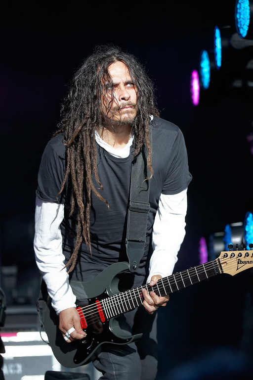 Description of . Korn's Munky performs at Mayhem Festival on Thursday, July 18, 2014, at DTE Energy Theatre, Independence Township. Photo by Ken Settle