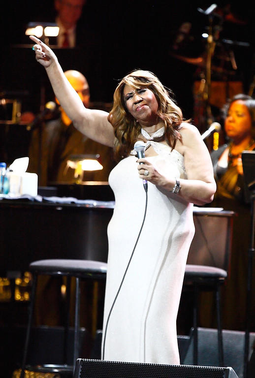 Description of . Aretha Franklin performs at Sound Board Theatre in the Motor City Casino on Saturday, Dec. 21, 2013. Photo by Ken Settle