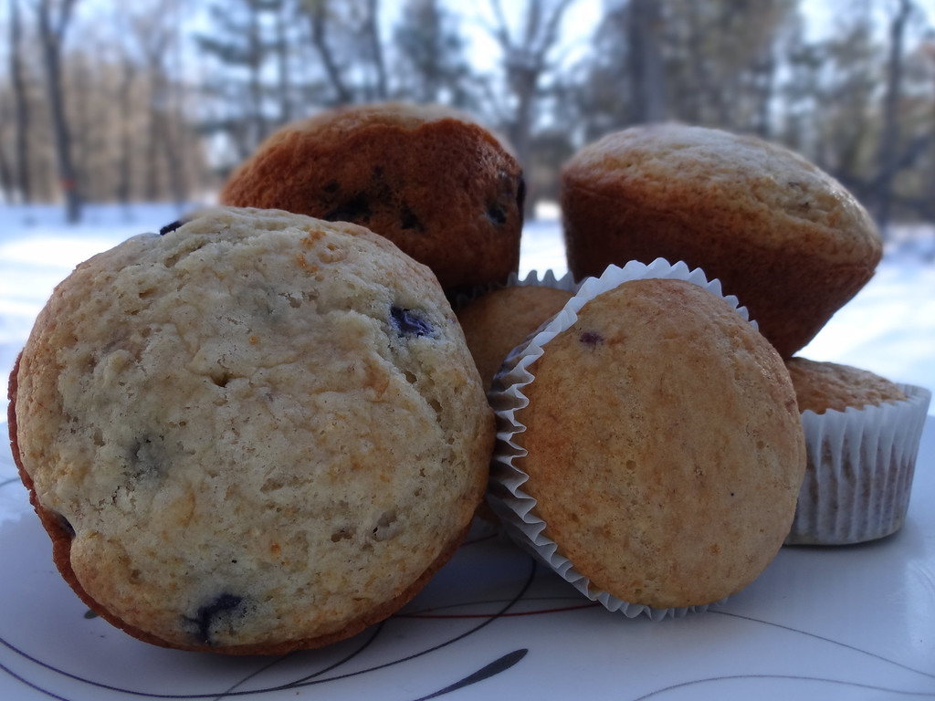 Description of . A warm Blueberry-Orange Muffin during this winters cold.....