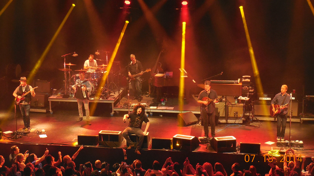 Description of . Counting Crows perform at Sound Board in the MotorCity Casino on Friday, July 18, 2014. Photo by Blake Gitlin