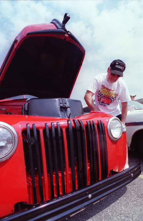 . Lin White of Waterford with his 1947 Ford Pick-Up , with a V-8 engine.