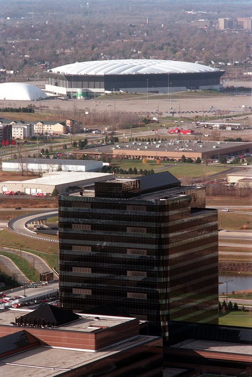 Description of . The Pontiac Silverdome and the Chrysler Tech Center sit near each other in Oakland County.