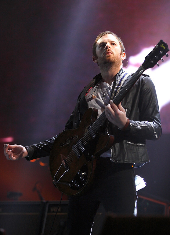 Description of . Caleb Followill of Kings Of Leon performs at The Palace on Feb. 11, 2014. Photo by Ken Settle