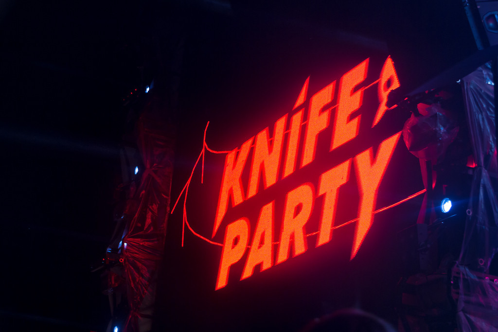 Description of . Knife Party, who closed out the final day of Perry's stage, rarely emerged from their DJ booth.