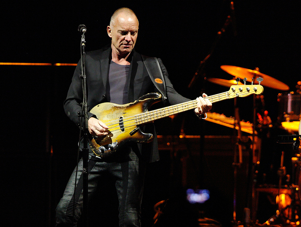 Description of . Sting performs in the On Stage Together tour at The Palace of Auburn Hills, Wednesday, Feb. 26, 2014. Photo by Ken Settle