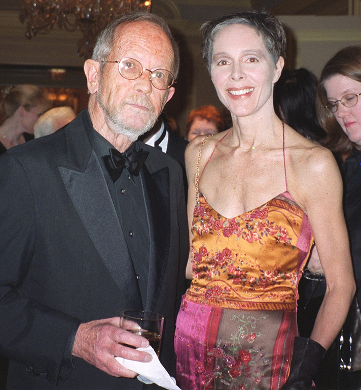 Description of . Author Elmore Leonard and wife Christine at the Michigan International Wine Auction Ñ A Night for Sight at the Ritz-Carlton in Dearborn on Saturday, April 6, 2002.