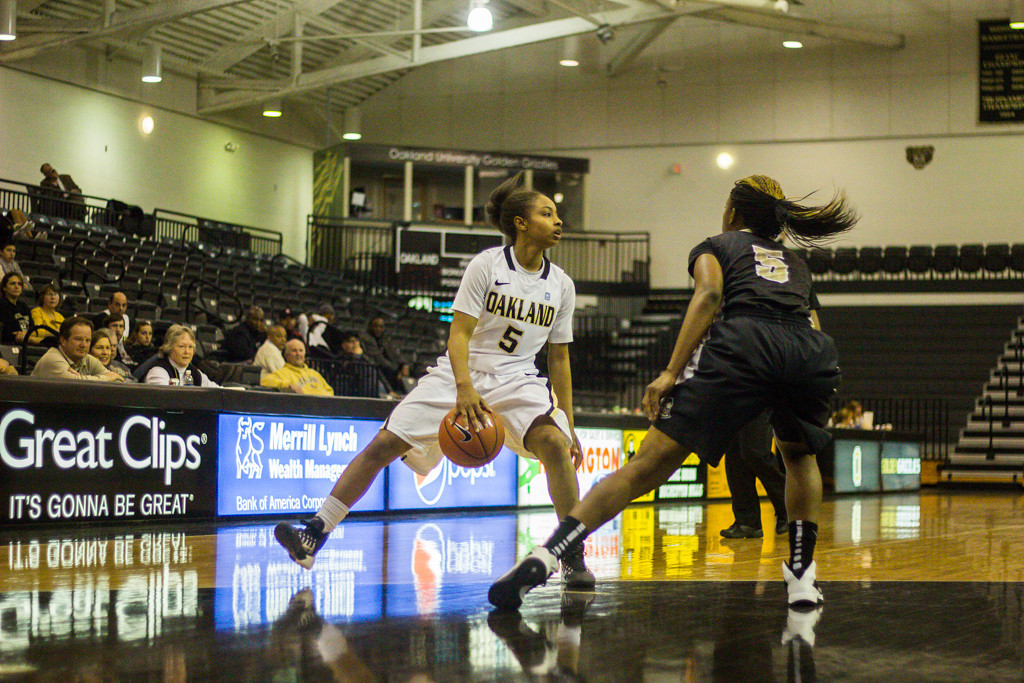Description of . #5 Michele Hayes attempts to keep the ball away from her defender. Photo by Dylan Dulberg