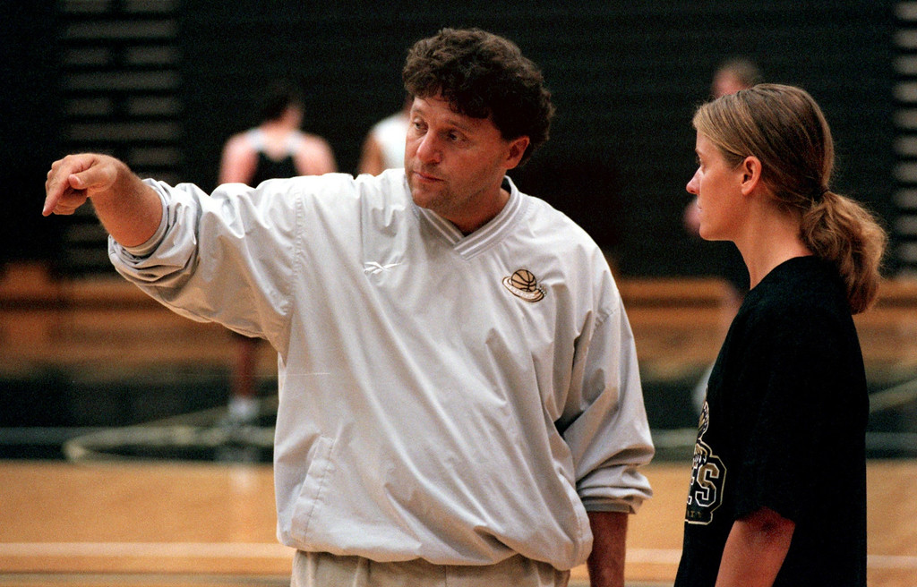 Description of . Jennifer Johntson, the new OU men's assistant basketball coach for coach Greg Kampe. She's the oly female in Division 1 men's coaching.