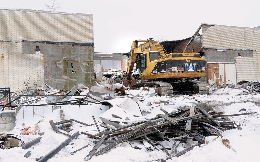 Description of . Demolition of the  Cinema III behind the Summit Place Mall in Waterford Township.    Thursday, February 6, 2014.  Tim Thompson-The Oakland Press
