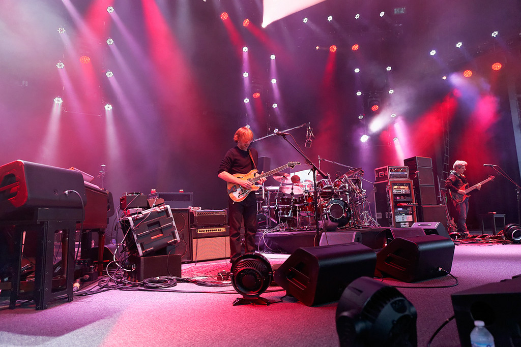 Description of . Phish perform at DTE Energy Music Theatre in  Independence Township on 7-16-14. Photo by Ken Settle