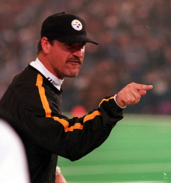 . Pittsburgh Steelers head coach Bill Cowher fumes at an official after a botched coin toss in an overtime loss to the Detroit Lions 19-16 at the Pontiac Silverdome Thursday.