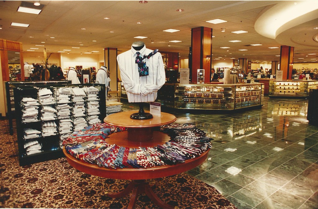 Description of . The renovated men's department at Hudson's in Summit Place Mall, Sept. 23, 1993. (File/The Oakland Press)