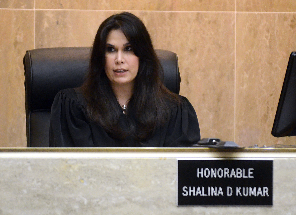Description of . Oakland County Circuit Court Judge Shalina Kumar sentenced Tucker Cipriano and Mitchell Young to life with no parole for the beating death of Robert Cipriano,  Wednesday July 24, 2013. (Oakland Press Photo:Vaughn Gurganian)