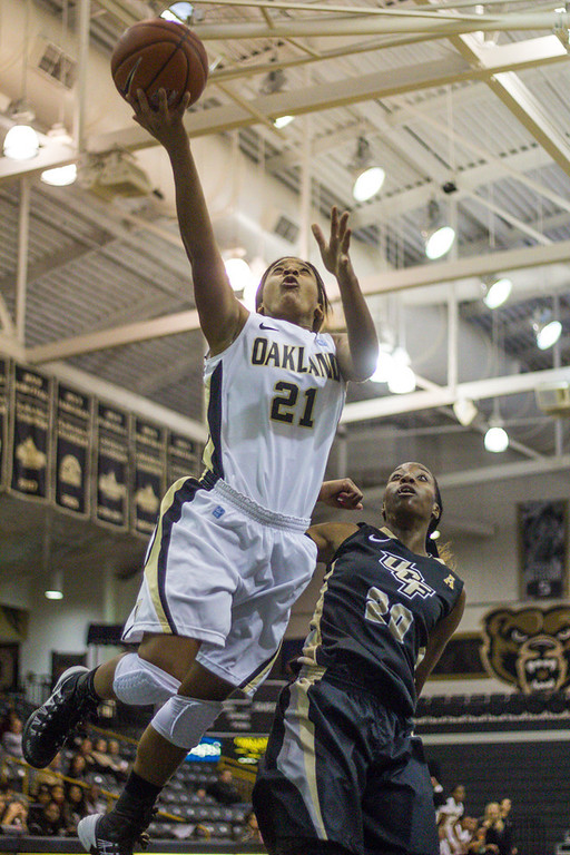 Description of . #21 Nola Anderson goes for a lay-up. Photo by Dylan Dulberg