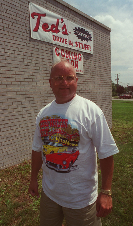 Description of . Bill Christner will be selling his official Ted\'s Drive-In Stuff during the Woodward Dream Cruise this Saturday.