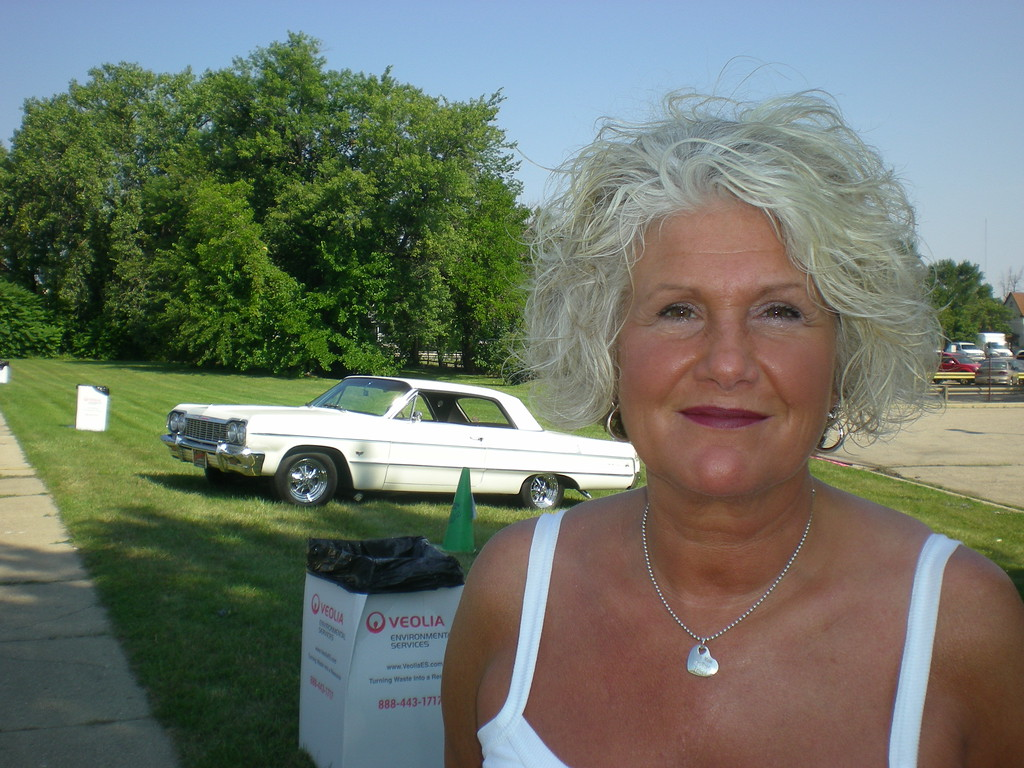 Description of . Maryann Vert of Davison said she enjoys people-watching during the Woodward Dream Cruise.