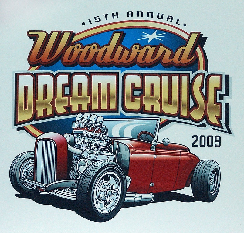Description of . Artwork for the 15th Annual Woodward Dream Cruise 2009 was unveiled at the Detroit Autorama show at Cobo Center in Detroit.