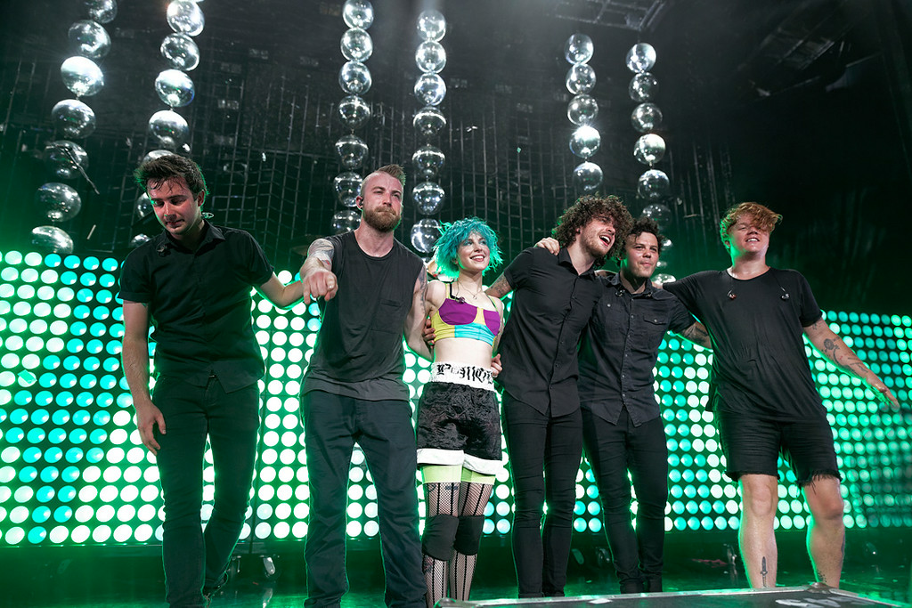 Description of . Paramore at DTE on 7-8-14. Photo by Ken Settle
