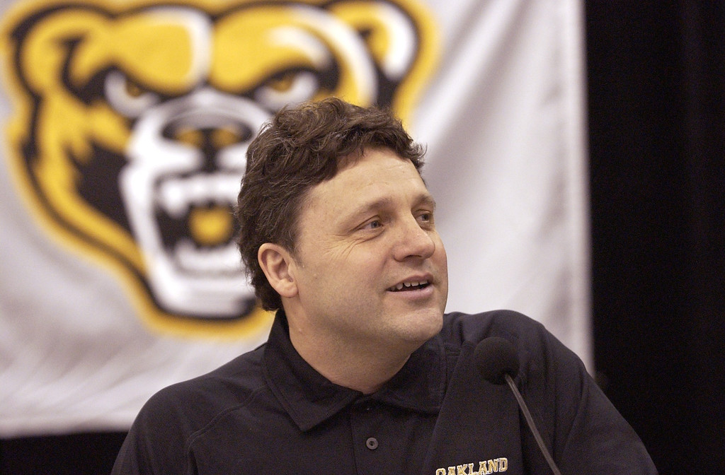 Description of . Oakland University's NCAA tournament bound basketball team coach Greg Kampe had some things to say after the pairings.